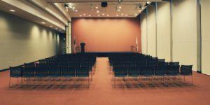 Een conferentie ruimte voor de GEA User Conference